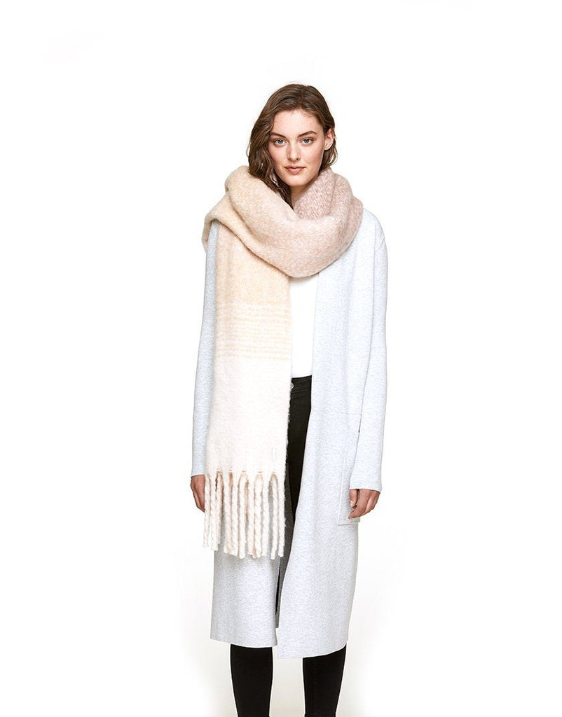 Soia & Kyo Maribel Woven Blanket Scarf -  Taupe - Styleartist