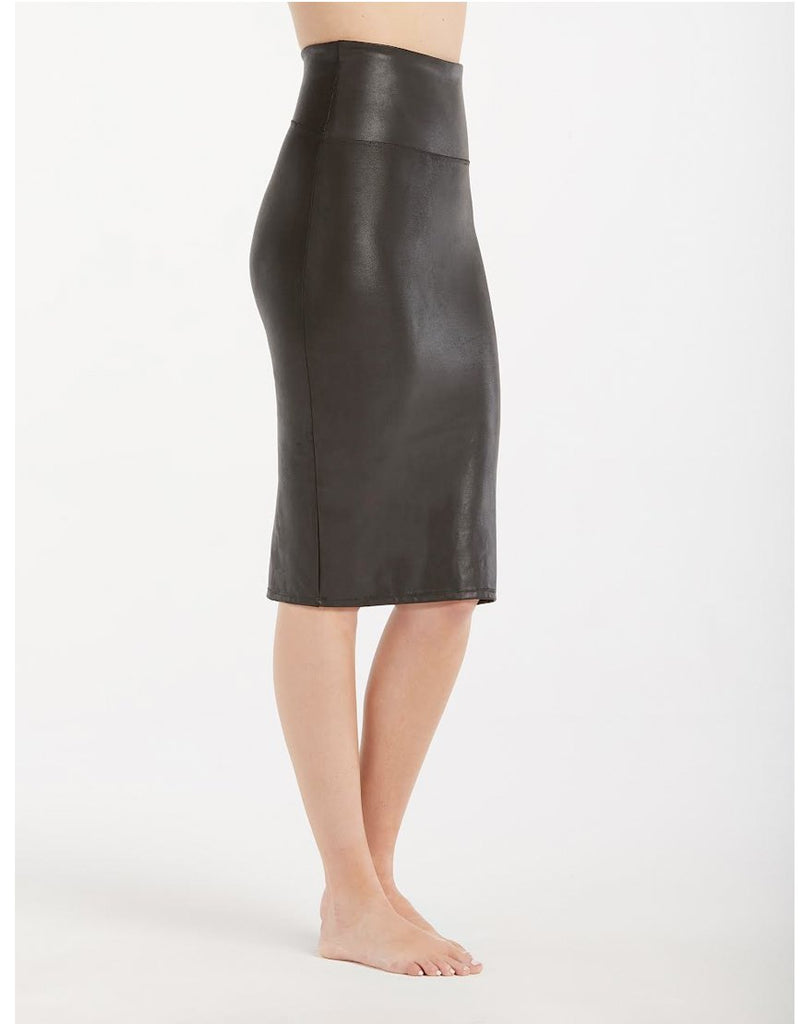 Spanx Faux Leather Pencil Skirt Black - Styleartist