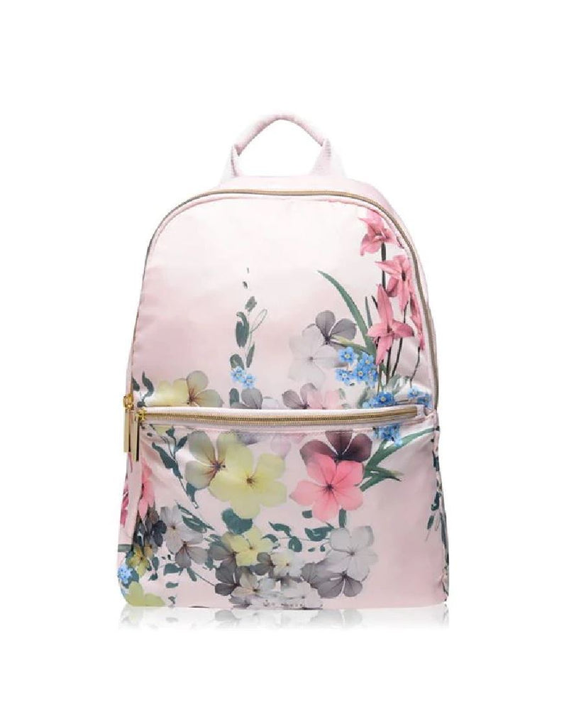 Ted Baker Arvid Floral Backpack- Baby Pink - Styleartist