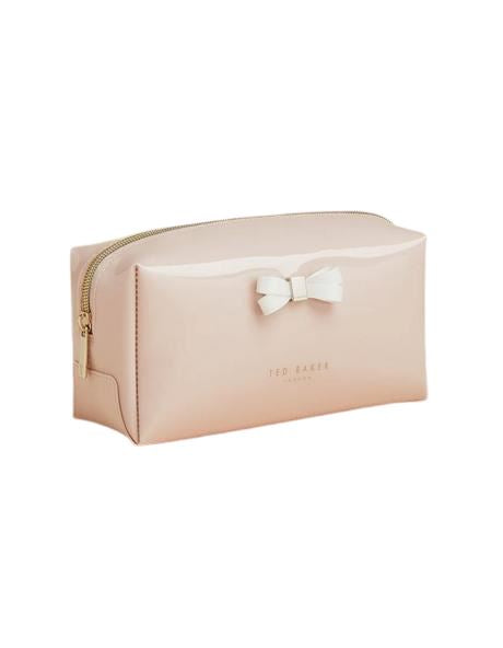 Ted Baker Eulali Bow Detail Make Up Bag - Dusky Pink - Styleartist