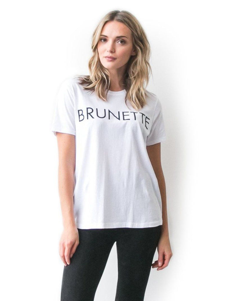 The Ryan Brunette Crew Neck Tee - White - Styleartist