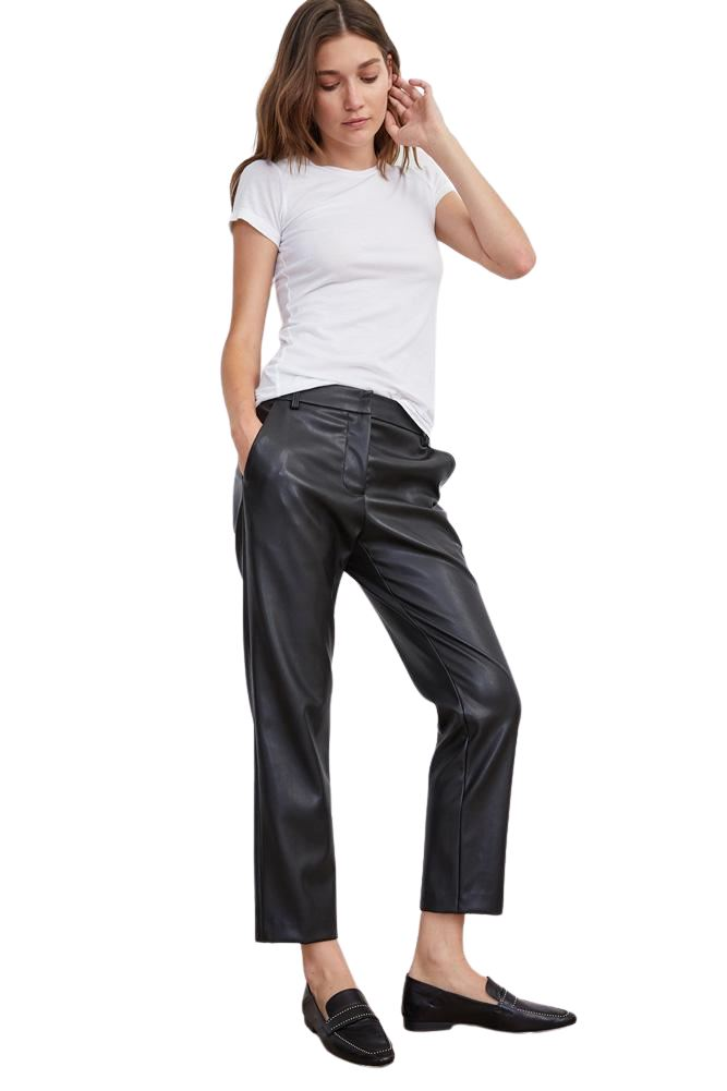 Velvet Hydie Vegan Leather Pants - Black - Styleartist