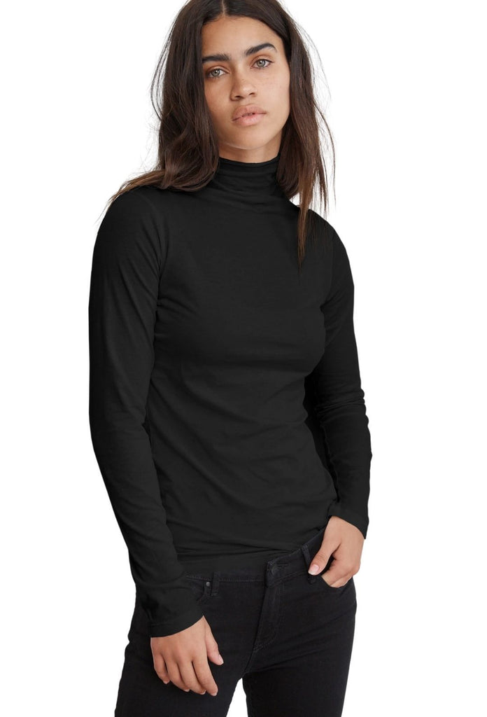 Velvet Talisia Gauzy Whisper Classics Long Sleeve Top - Black - Styleartist