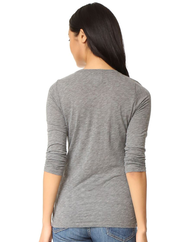 Velvet Zofina Classic Long Sleeve Crew Tee - Charcoal - Styleartist