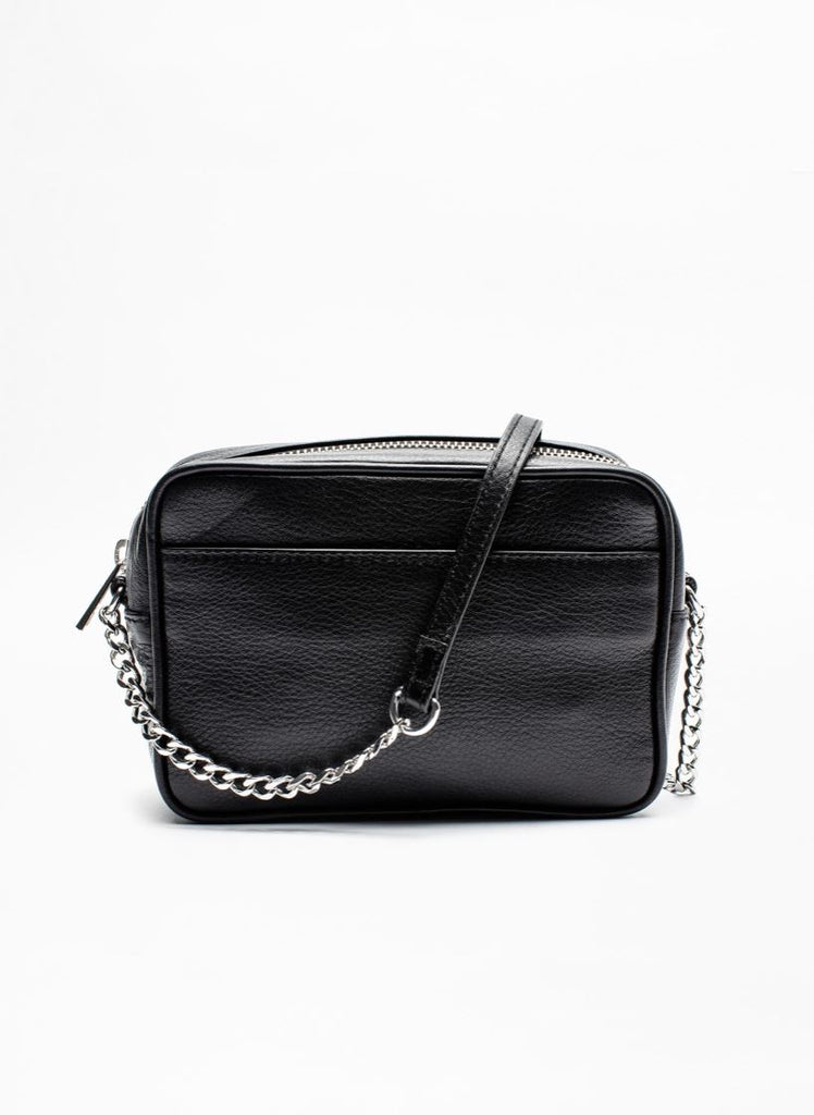 Zadig & Voltaire Extra Small Tassel Boxy Leather Shoulder Bag - Black - Styleartist