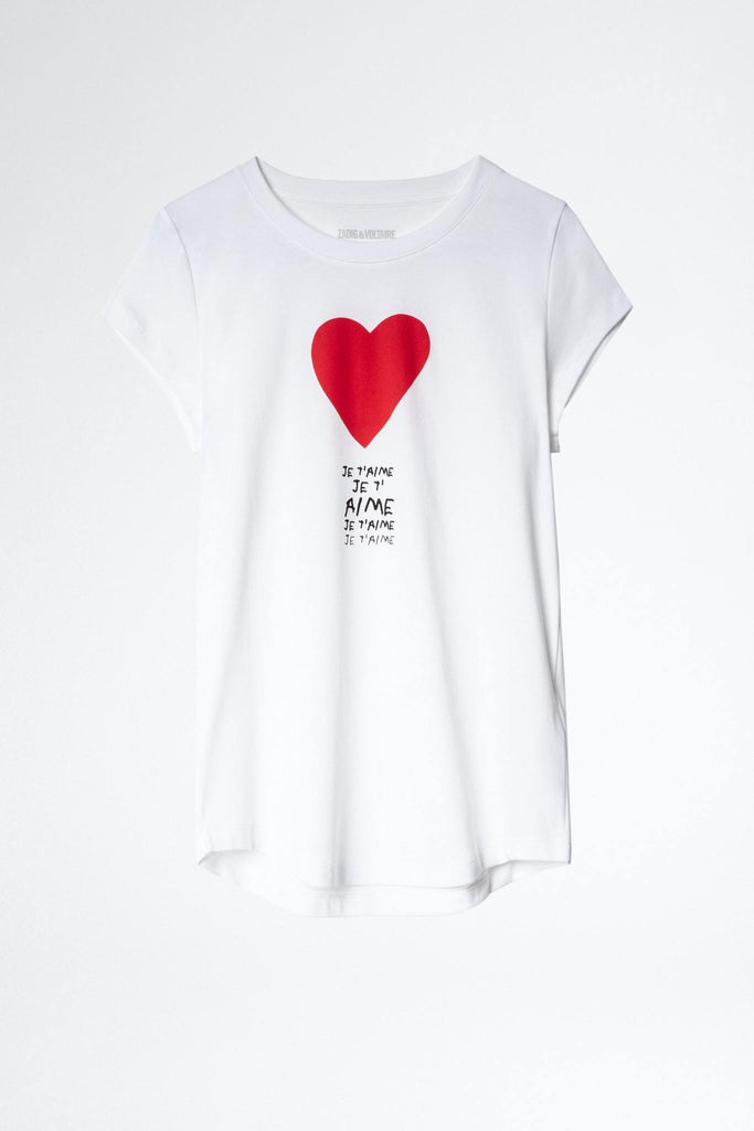 Zadig & Voltaire Skinny Je T'Aime T Shirt- White - Styleartist