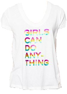 "Zadig & Voltaire Tiny Girls T-Shirt ""Girls Can Do Anything"" - Styleartist"