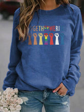 Load image into Gallery viewer, Alphabet Print Hooded Sweatshirt