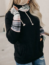 Load image into Gallery viewer, Autumn New Color-blocking Hooded Street Style Pullover Sweatshirt