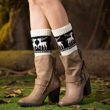 Load image into Gallery viewer, Autumn Winter Knitted Color Matching Short Christmas Elk Pattern Socks