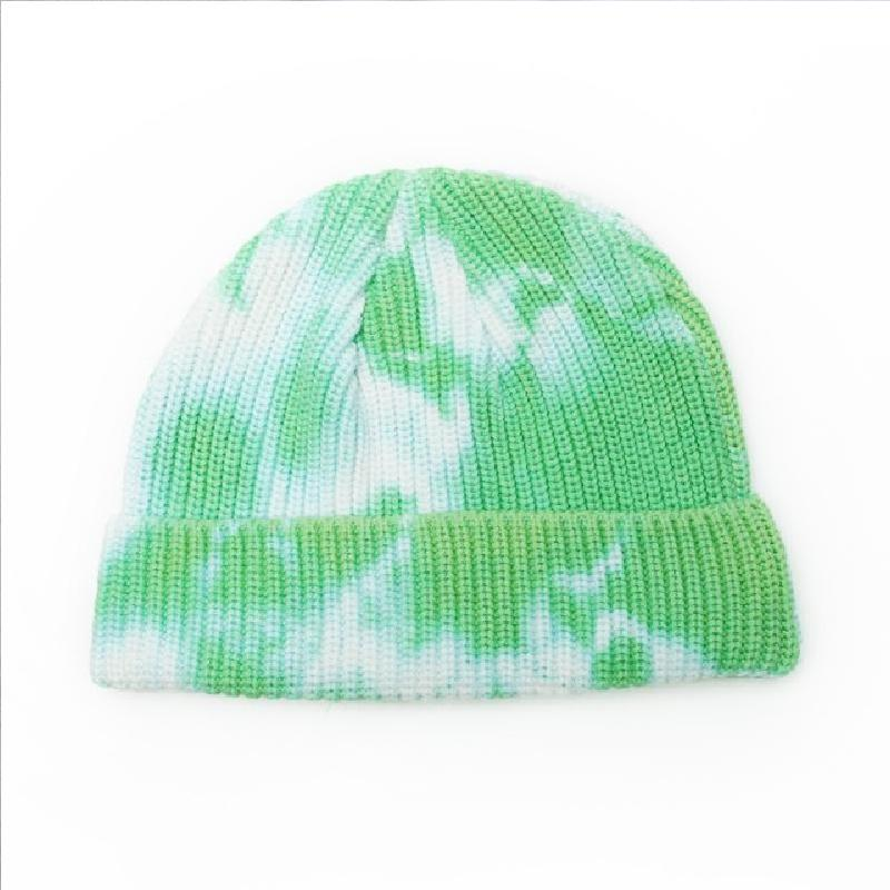 Autumn and Winter Tie-dye Retro Knitted Baotou Woolen Hat