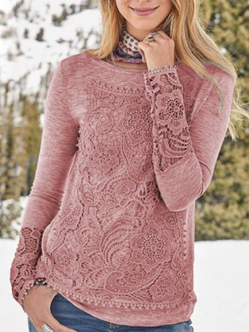 Autumn Winter Fashion Lace Tops
