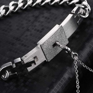 Couples' Lock & Key Necklace and Bracelet Set