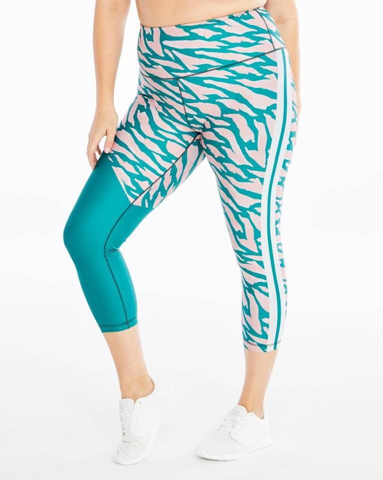 All Grévy Color Block ¾-Length Legging