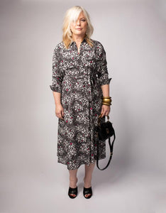 Waisted Shirt Dress W/ Belt Composition