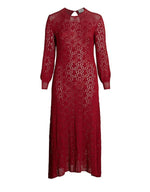 Load image into Gallery viewer, Loren Crochet Maxi Dress Scarlet Letter Red