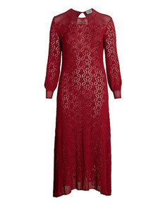 Loren Crochet Maxi Dress Scarlet Letter Red