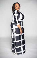 Load image into Gallery viewer, Black & White Dress