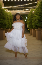 Load image into Gallery viewer, 'Corrine' Feather Tulle Dress