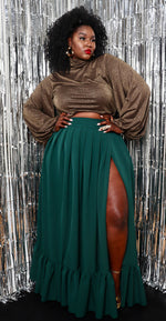 Load image into Gallery viewer, Jada Pleated Maxi Skirt  — Christian Omeshun