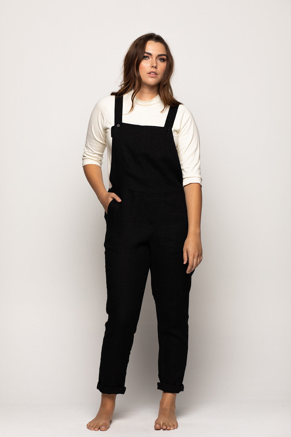 Overalls No. 10 in Black Linen  — Pyne & Smith Clothiers
