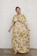 Load image into Gallery viewer, Long Caftan Dress - Striped Lily, Plus Size