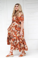 Load image into Gallery viewer, Tropical Maxi Dress // Cinnamon Floral