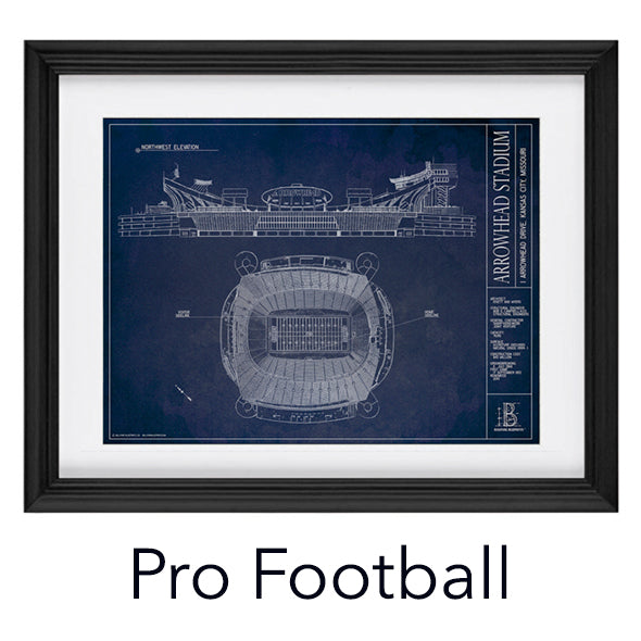 Architectural prints of sports stadiums ballpark blueprints football malvernweather Image collections