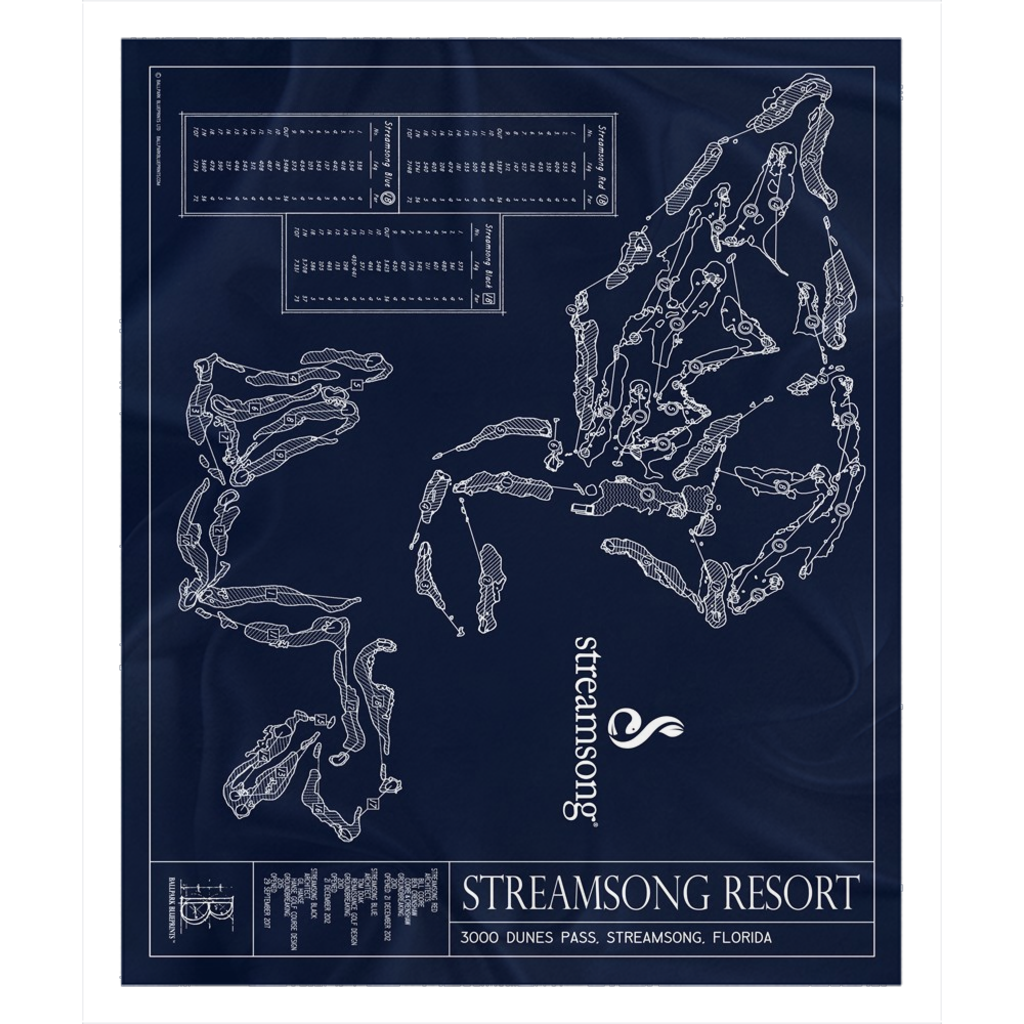 Streamsong Resort Fleece Sherpa Blankets
