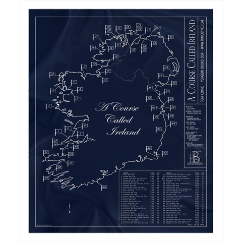 Canal Shores Golf Course Fleece Sherpa Blanket