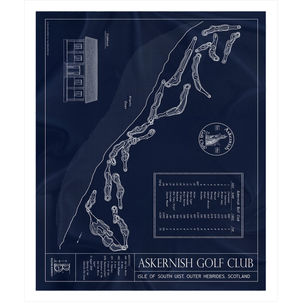 Askernish Golf Club Fleece Sherpa Blanket