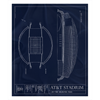 Petco Park Fleece Sherpa Blanket