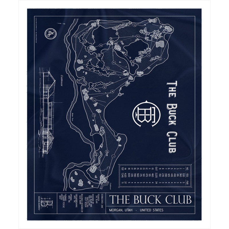 The Buck Club Fleece Sherpa Blankets