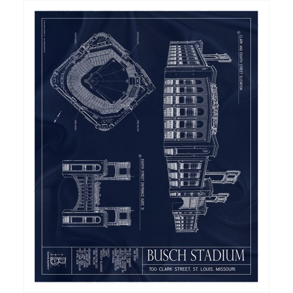 Busch Stadium Fleece Sherpa Blanket