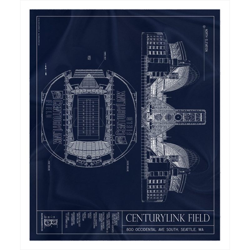 Centurylink Field Fleece Sherpa Blanket