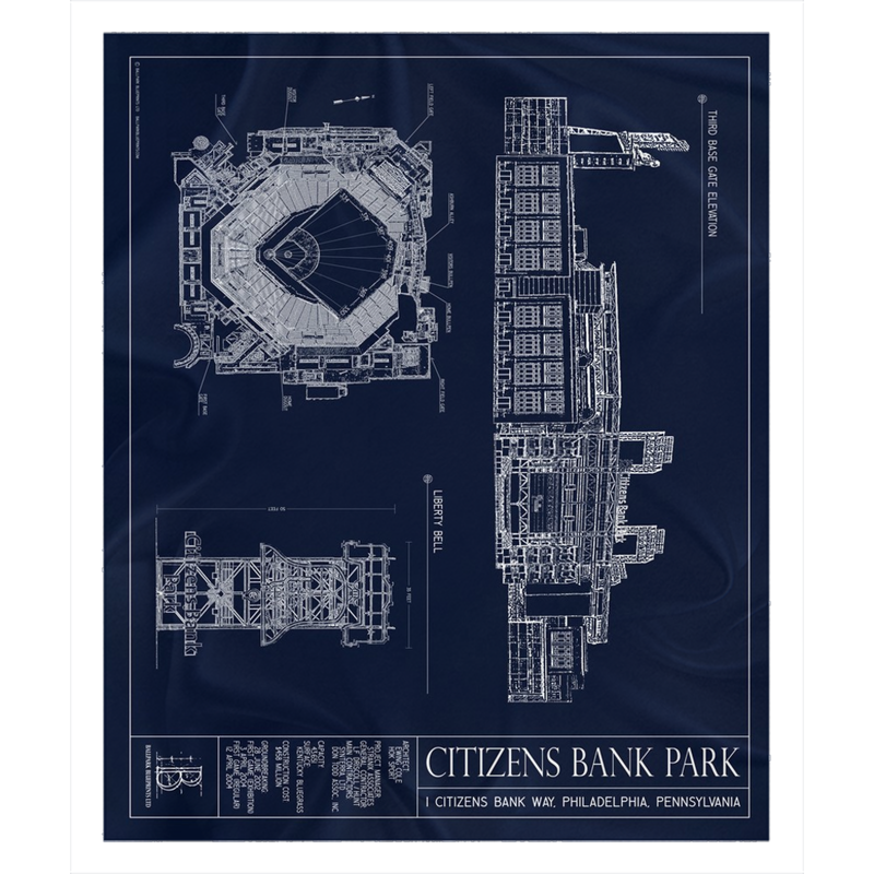 Citizens Bank Park Fleece Sherpa Blanket
