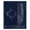 Great American Ball Park Fleece Sherpa Blanket