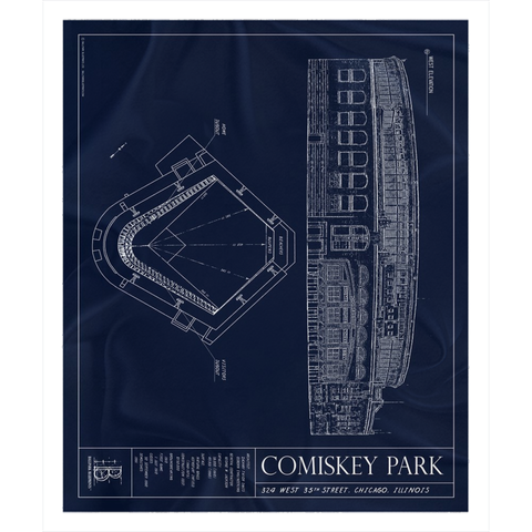 Jacobs Field Fleece Sherpa Blanket