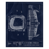 Allen Fieldhouse Fleece Sherpa Blanket