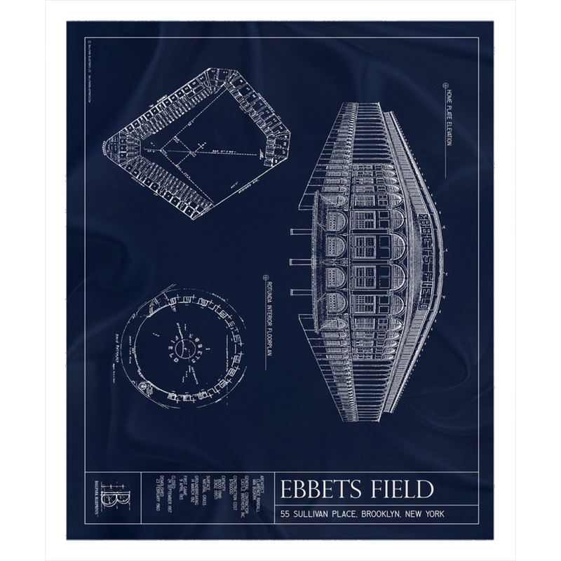 Ebbets Field Fleece Sherpa Blanket