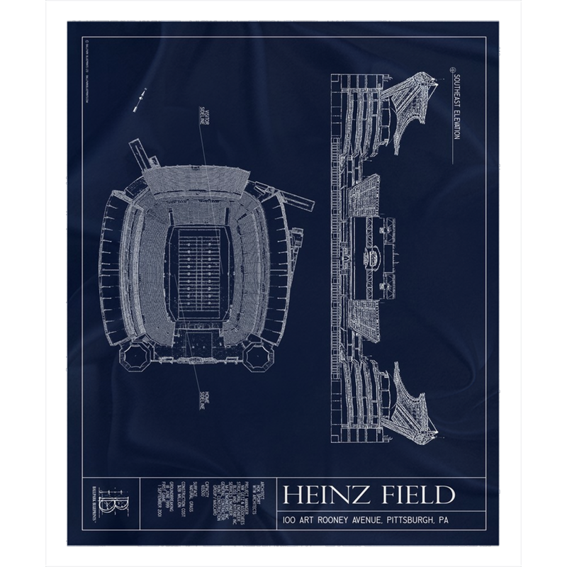 Heinz Field Fleece Sherpa Blanket
