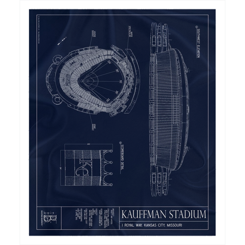 Kauffman Stadium Fleece Sherpa Blanket