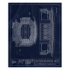 Broncos Stadium at Mile High Fleece Sherpa Blanket