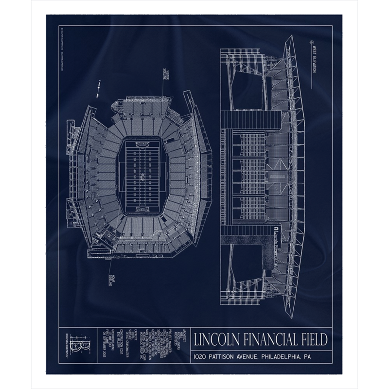Lincoln Financial Field Fleece Sherpa Blanket
