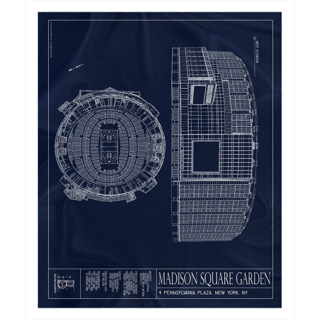 Madison Square Garden Fleece Sherpa Blanket