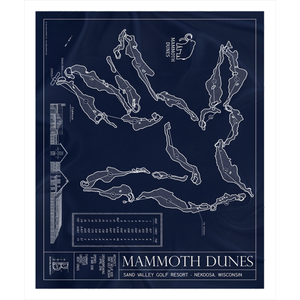 Mammoth Dunes Fleece Sherpa Blanket