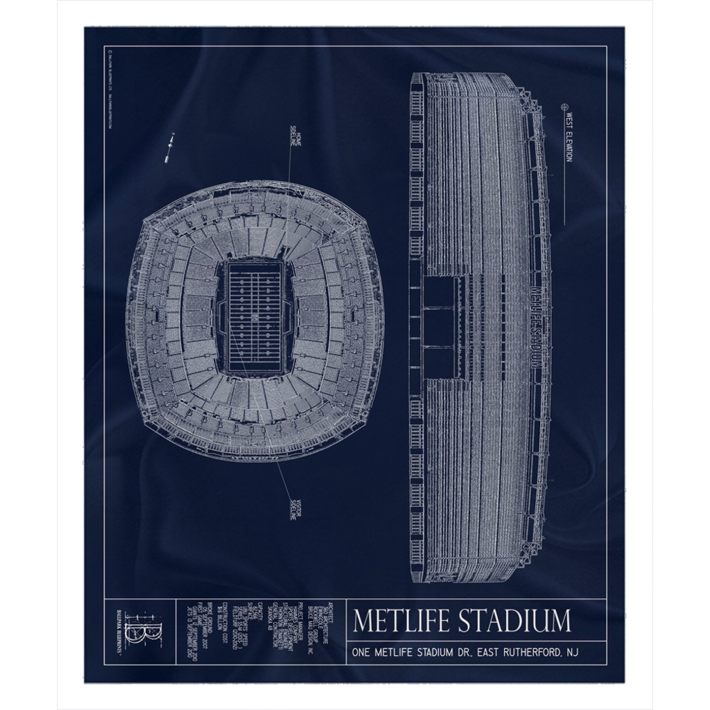 Metlife Stadium Fleece Sherpa Blanket