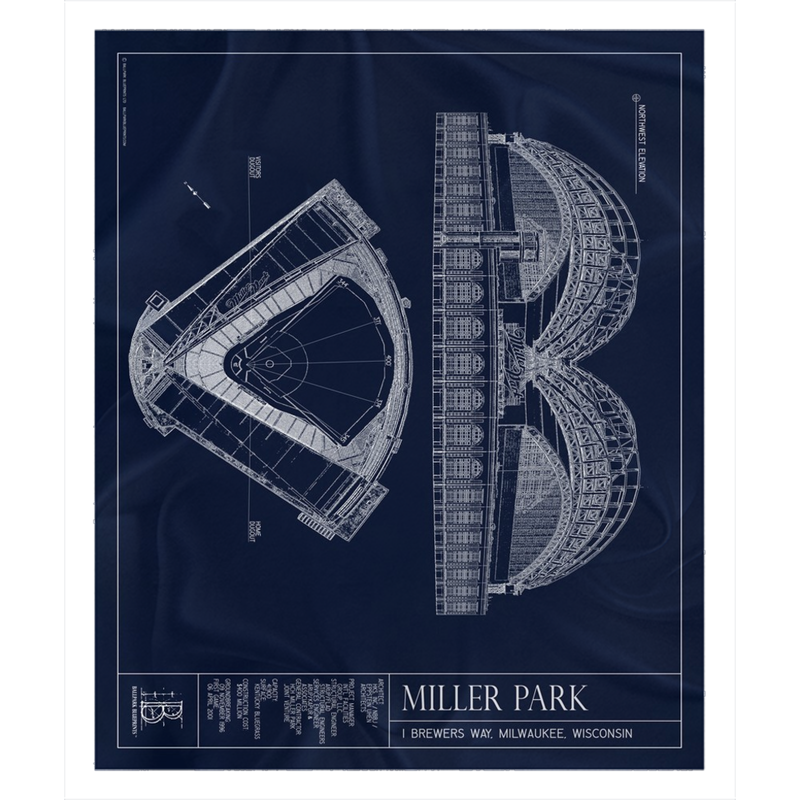 Miller Park Fleece Sherpa Blanket