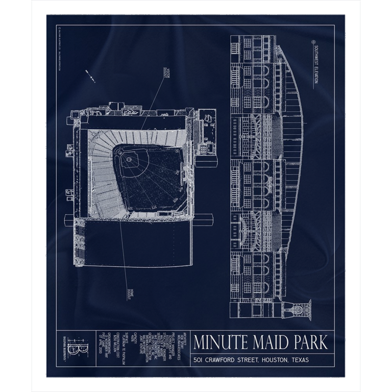 Minute Maid Park Fleece Sherpa Blanket