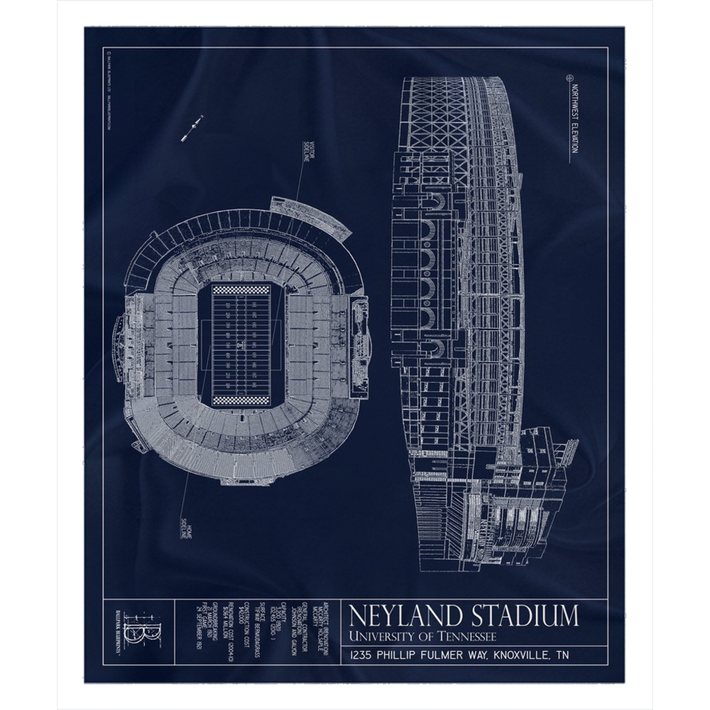 Neyland Stadium Fleece Sherpa Blanket